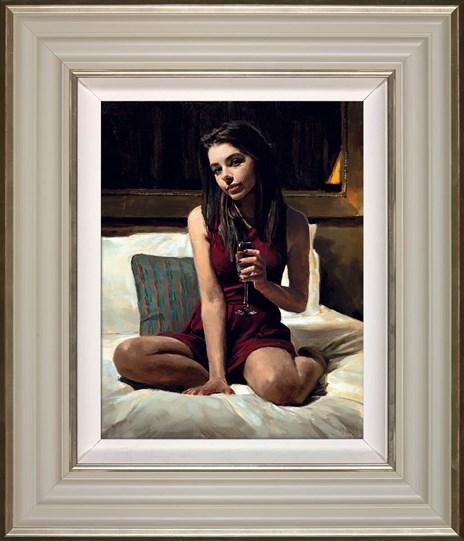 Bella by Fabian Perez - Framed Embelished Canvas on Board