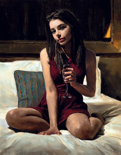Bella by Fabian Perez - Embelished Canvas on Board